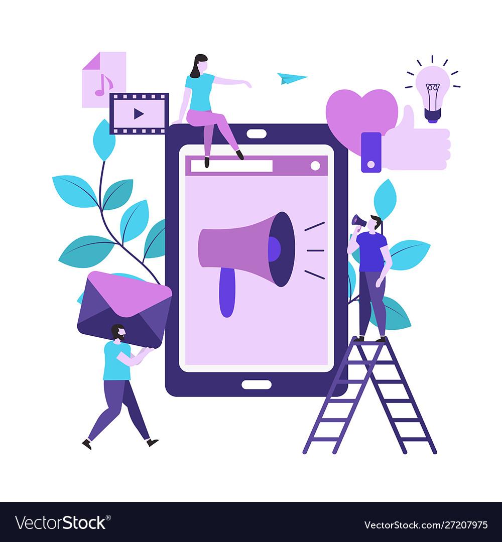 Social media connection background social media
