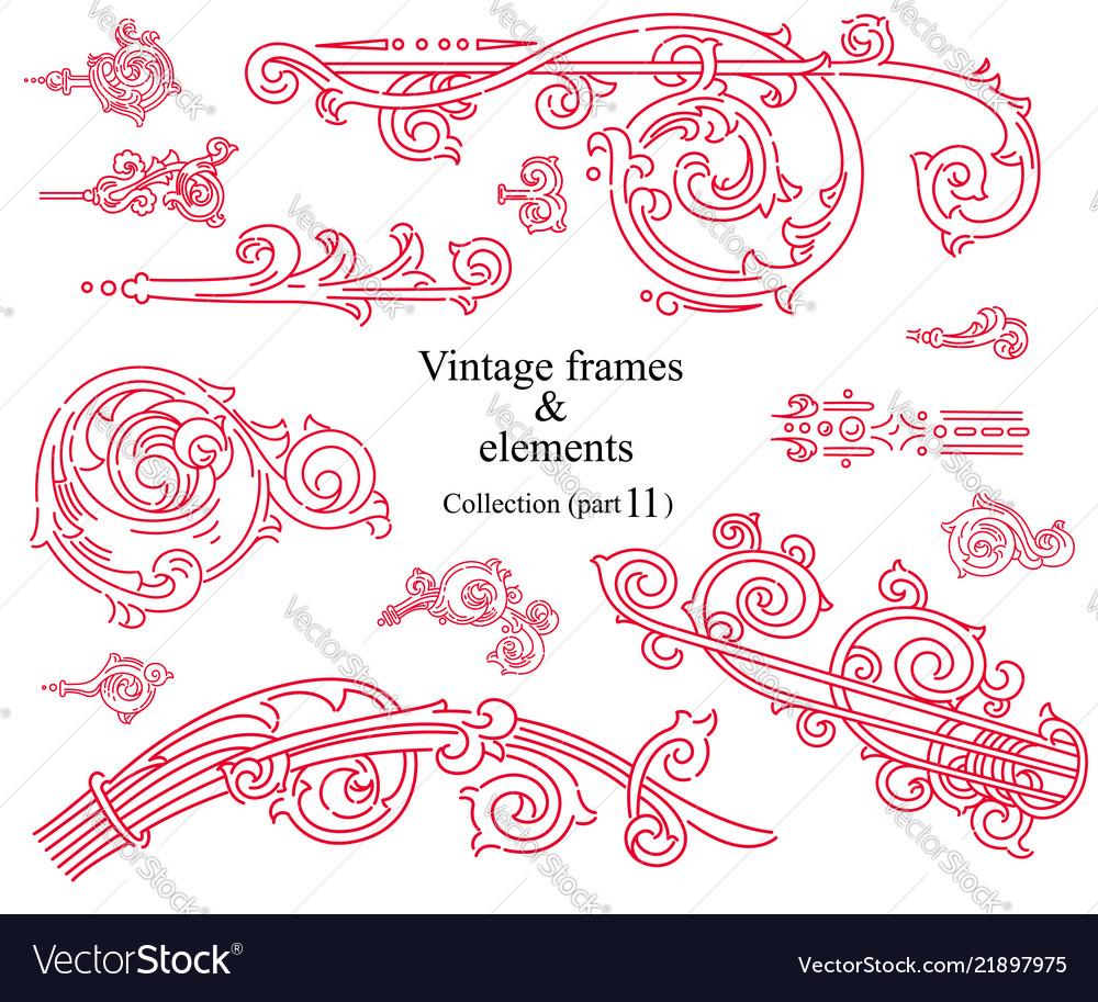 Vintage elements images collection part 11