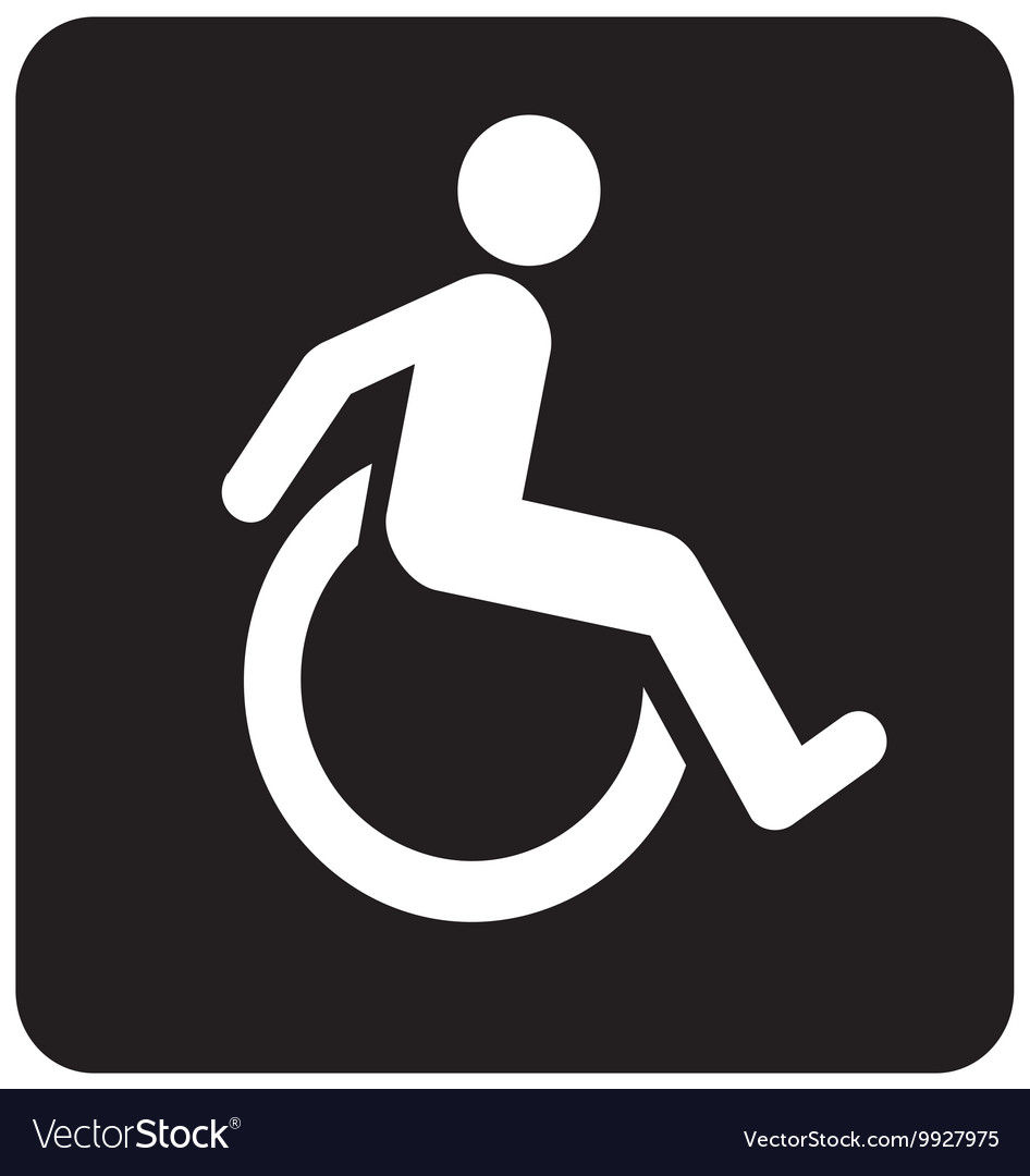 Wheel Chair Moving Sign