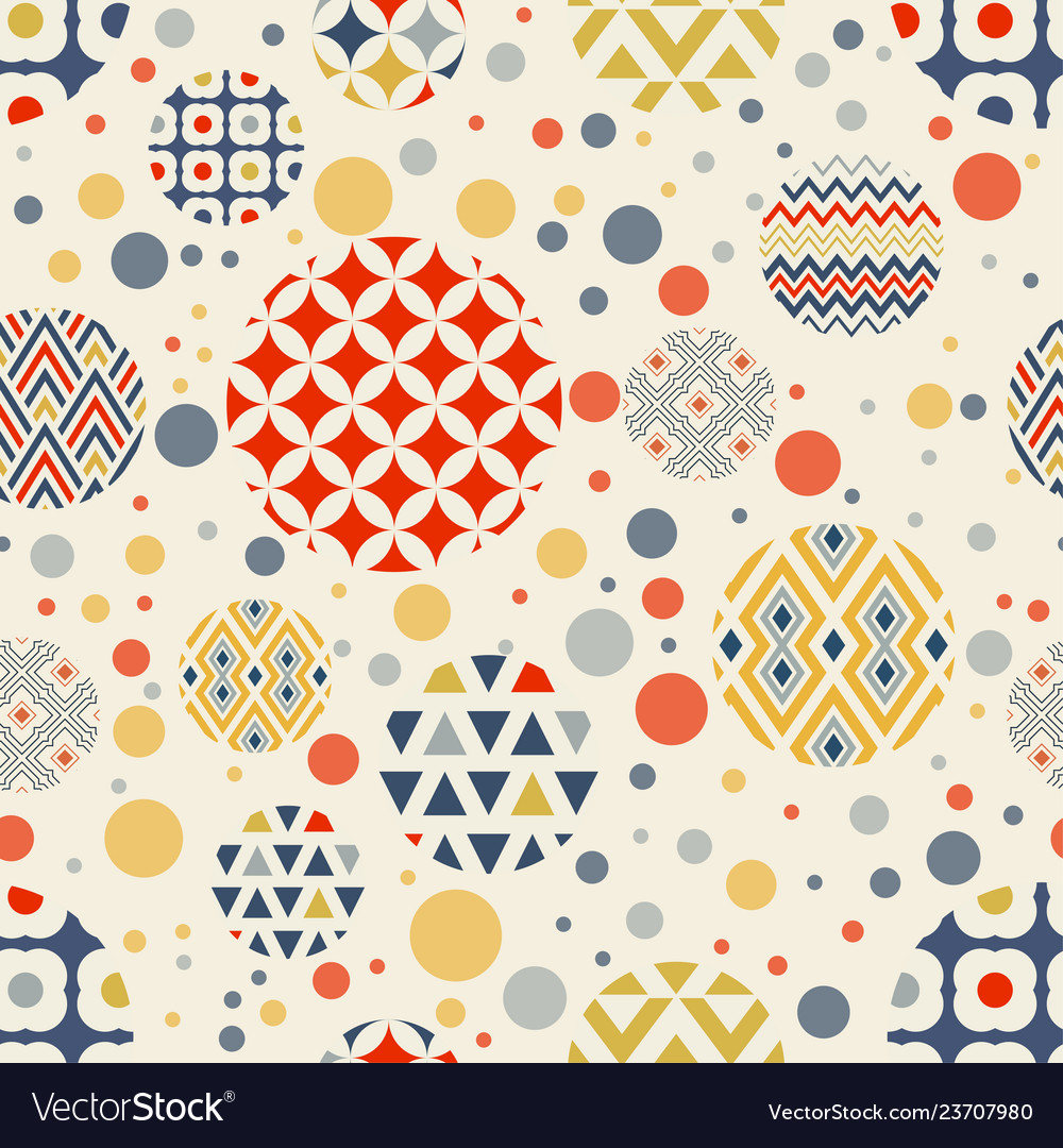 Abstract geometric seamless pattern circles