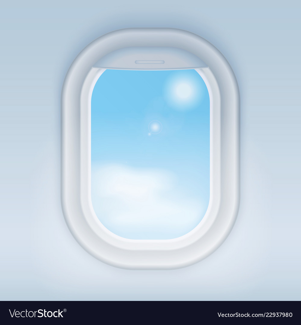Aircraft airplane realistic window