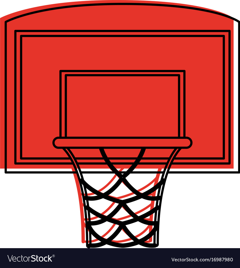 Basketball backboard and hoop icon image