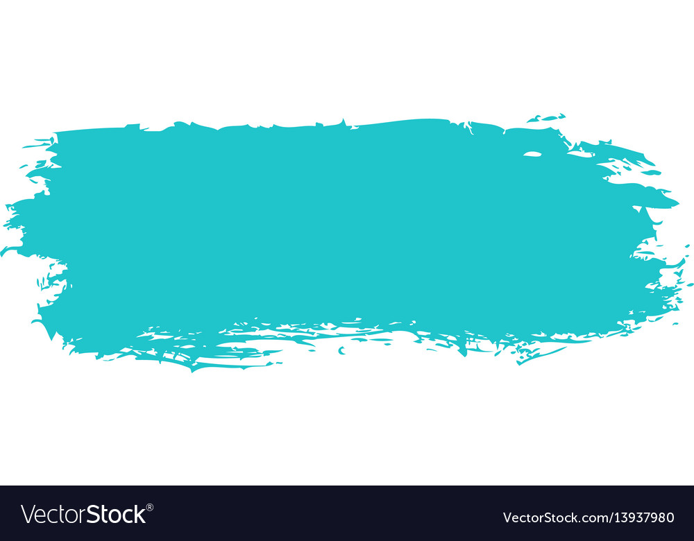 Green paint brushstroke vector image
