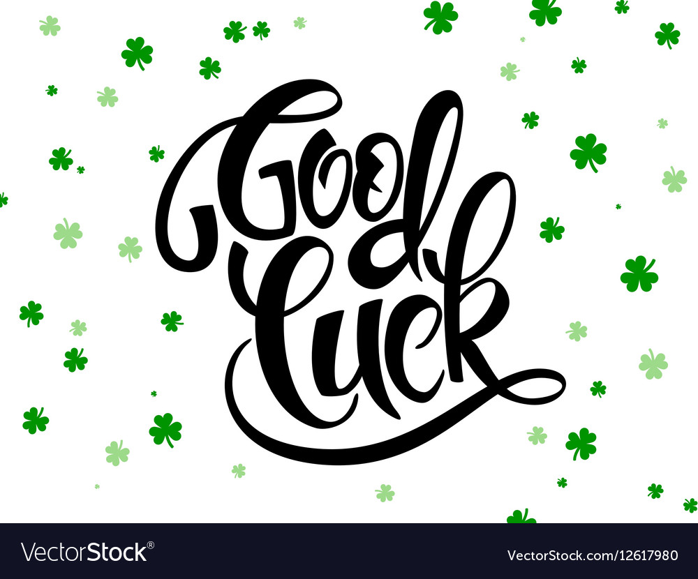 Hand lettering saint patricks day greetings vector image m4hsunfo