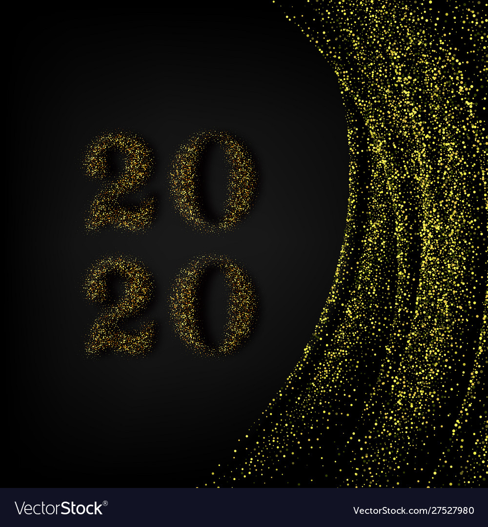 Happy new year 2020 - new year shining background