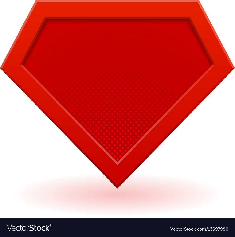 Red Superhero Logo Template Royalty Free Vector Image