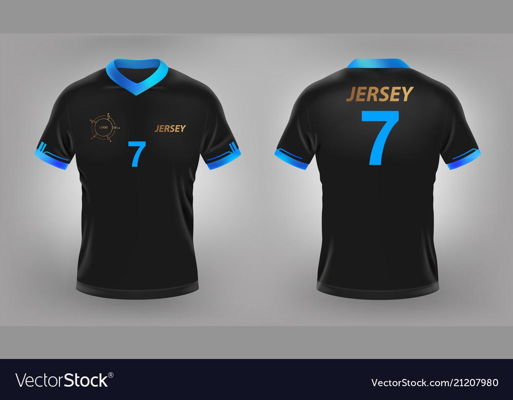huge discount e4424 ef86e Soccer jersey black sport t-shirt design