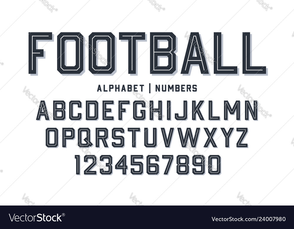 Sport style font football style font with lines