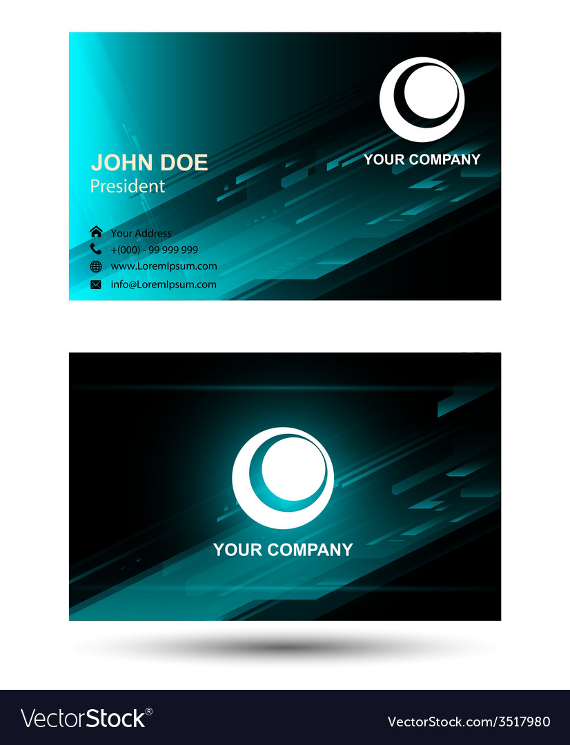 Technical business card royalty free vector image technical business card vector image colourmoves