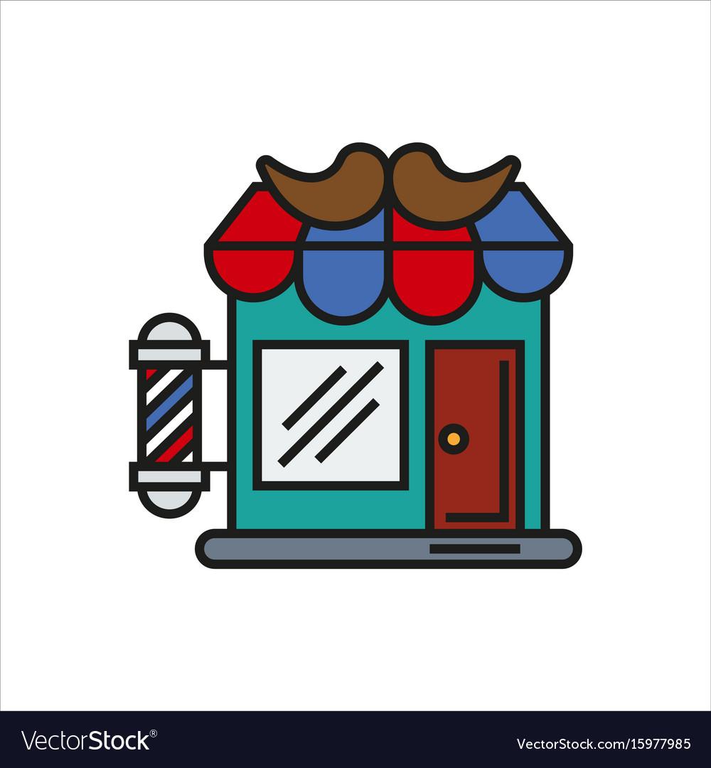Hair salon store line icon