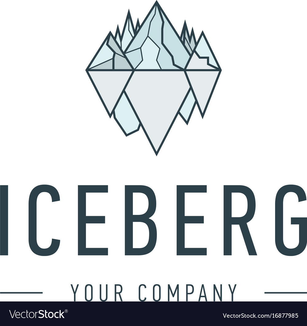 Iceberg triangle of cold mountain abstract