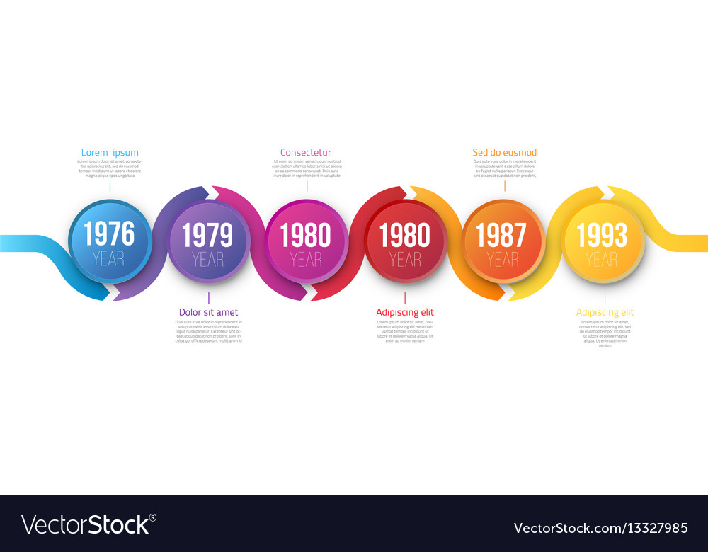 Infographics arrow timeline hystory template vector image