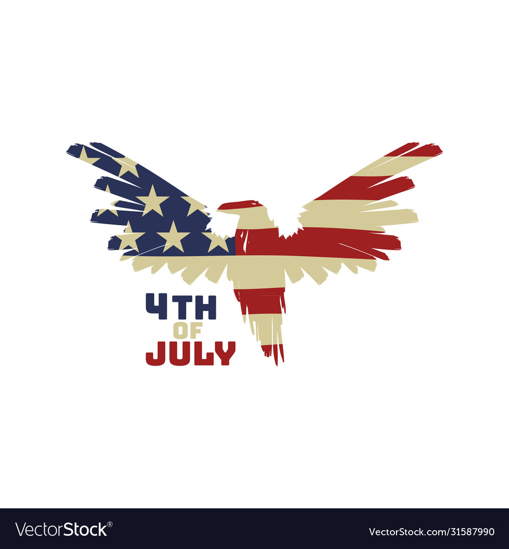 4th july background with american eagle flag