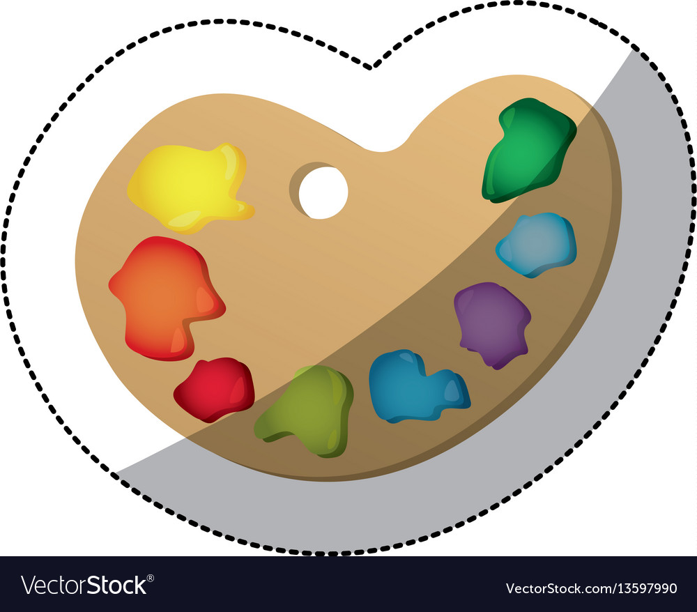 Color paint palette icon vector image
