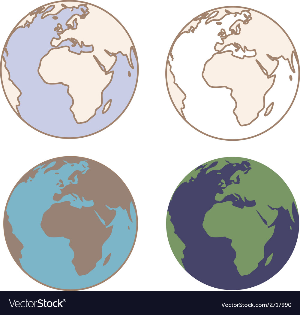 Earth in vintage colors vector image