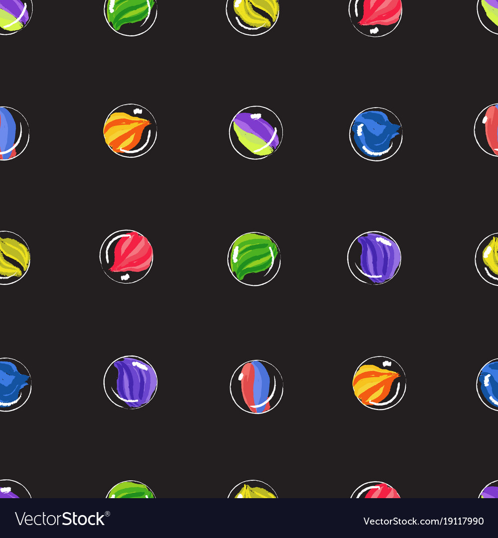 Marbles colorful seamless pattern vector image