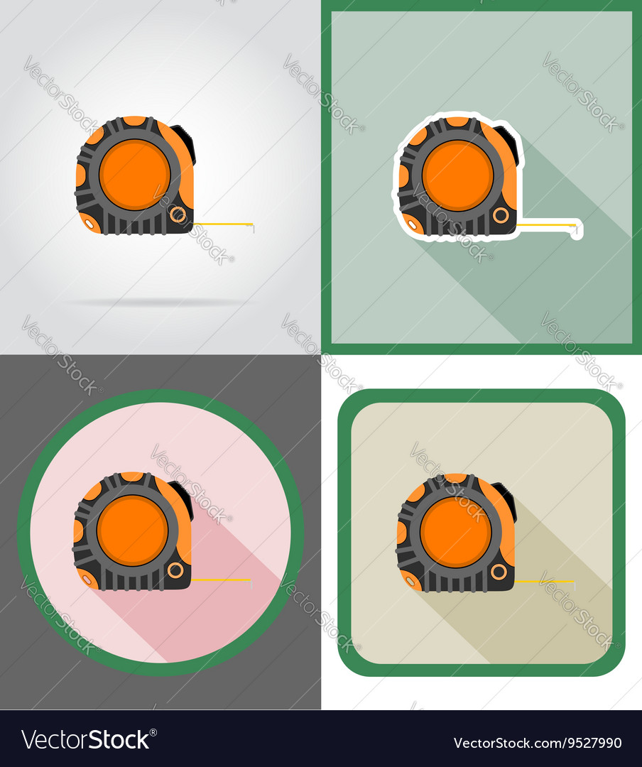 Repair tools flat icons 08 vector image