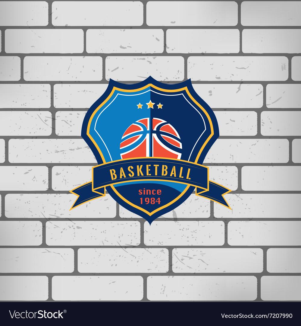 Sport basketball team game logo