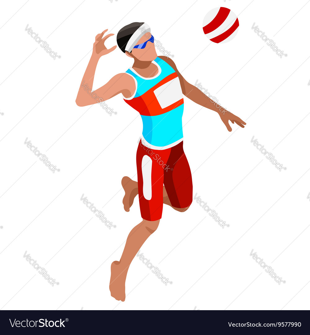 Volleyball Beach 2016 Sports Isometric 3D