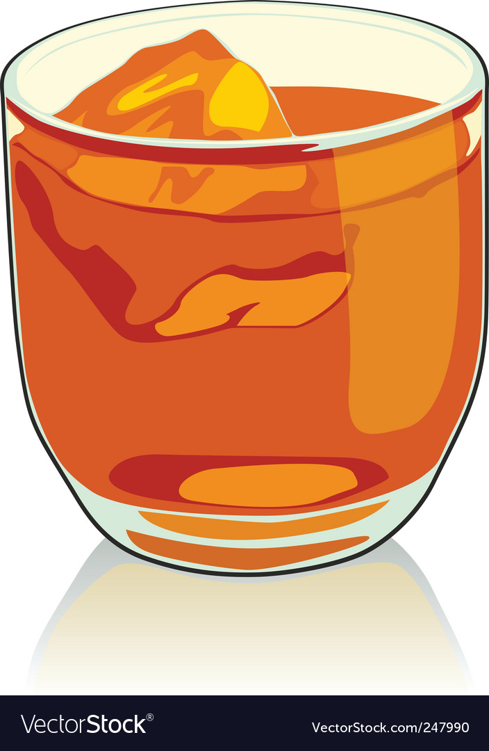 Whiskey glass vector image