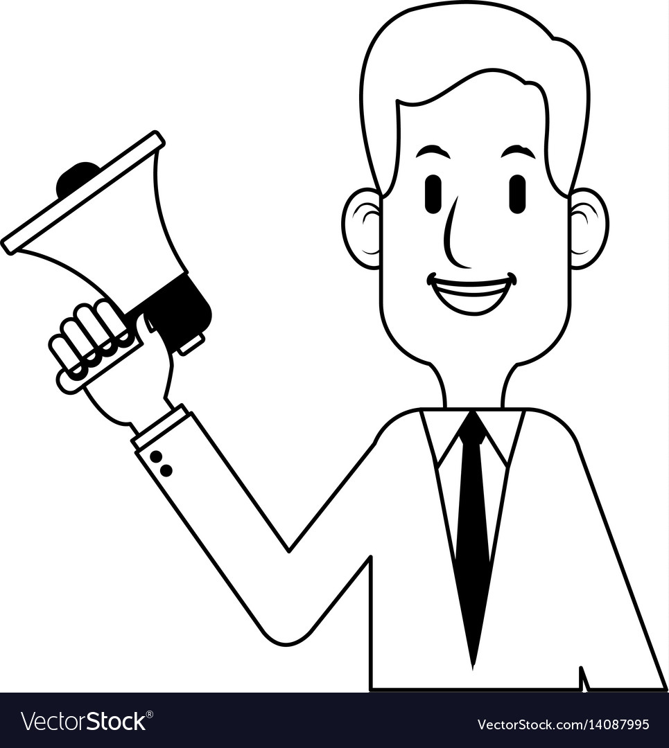 Businessman cartoon icon