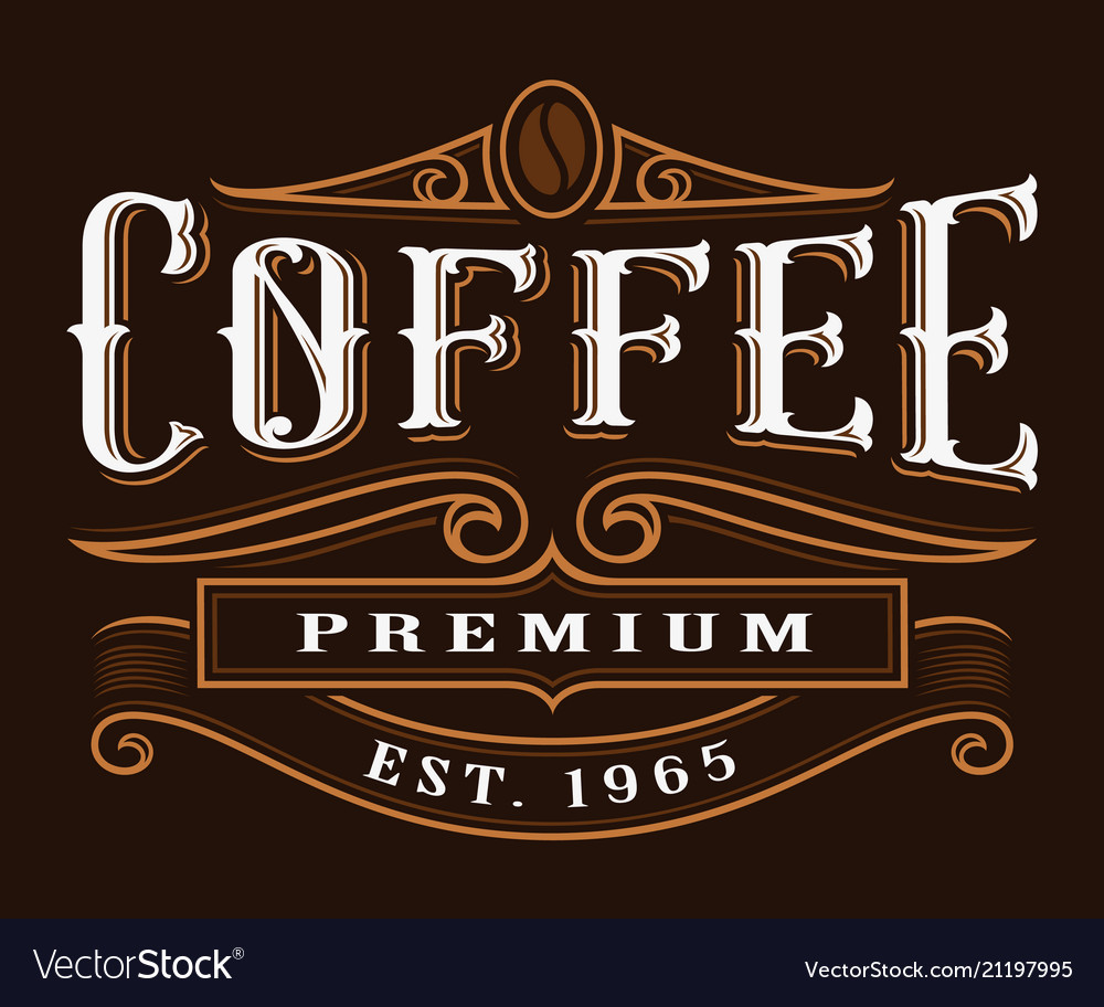 Coffe vintage label