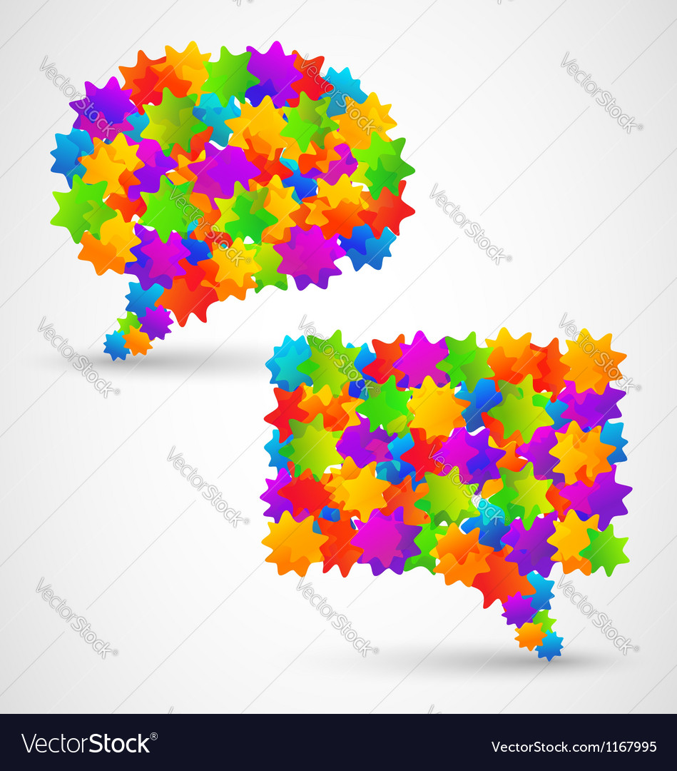 Colorful abstract chat bubbles
