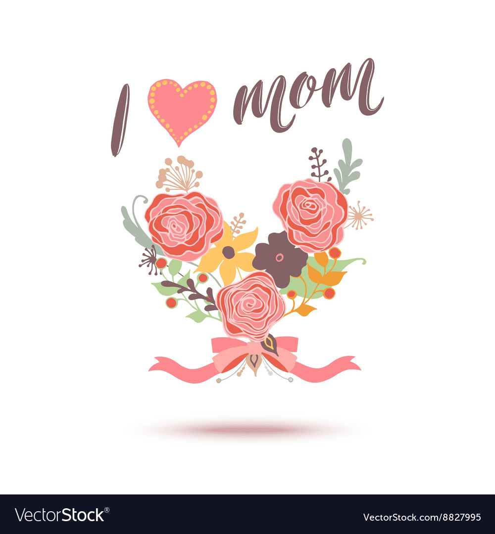Happy Mothers Day flowers greeting card