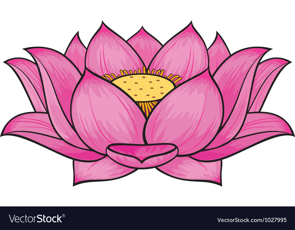 Lotus flower royalty free vector image vectorstock lotus flower vector image mightylinksfo