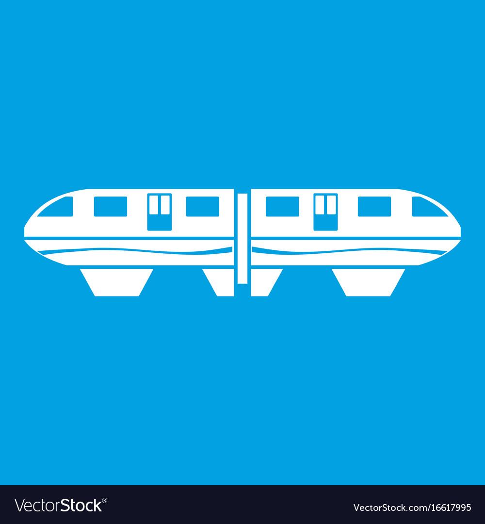Monorail train icon white