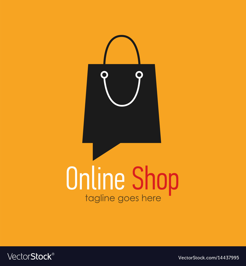 Online Shop Logo Design Template Royalty Free Vector Image