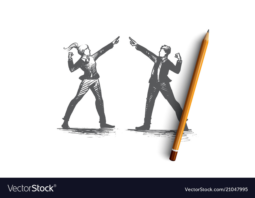 People leader concept hand drawn isolated
