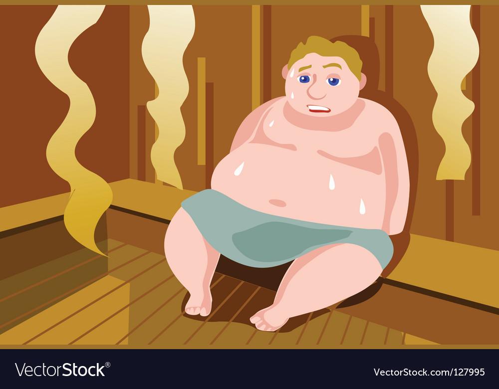 Sauna vector image