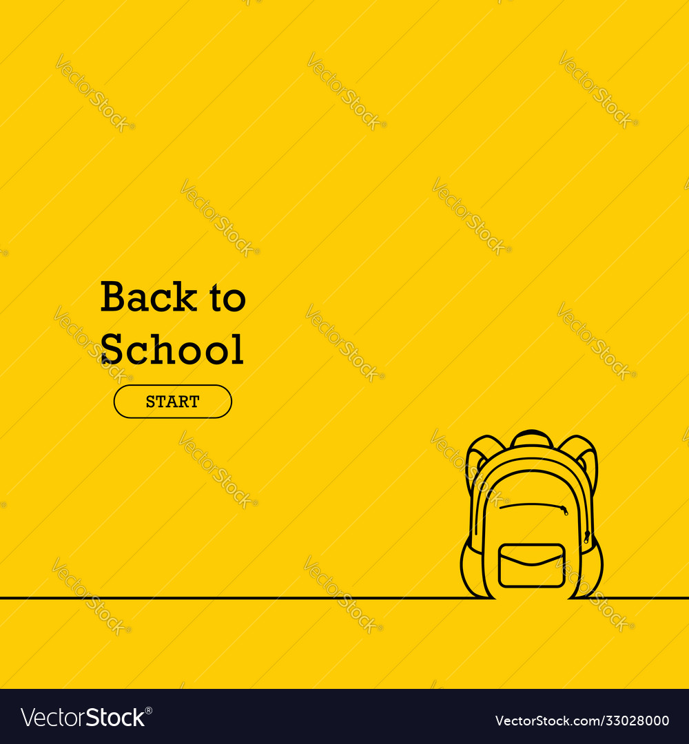 Back to school banner poster flat design