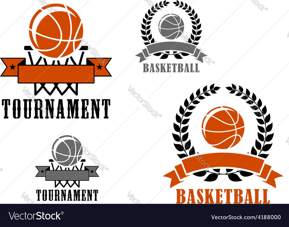 Basketball sport emblems or badges