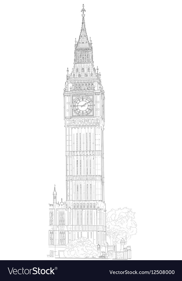 Drawing London Big Ben