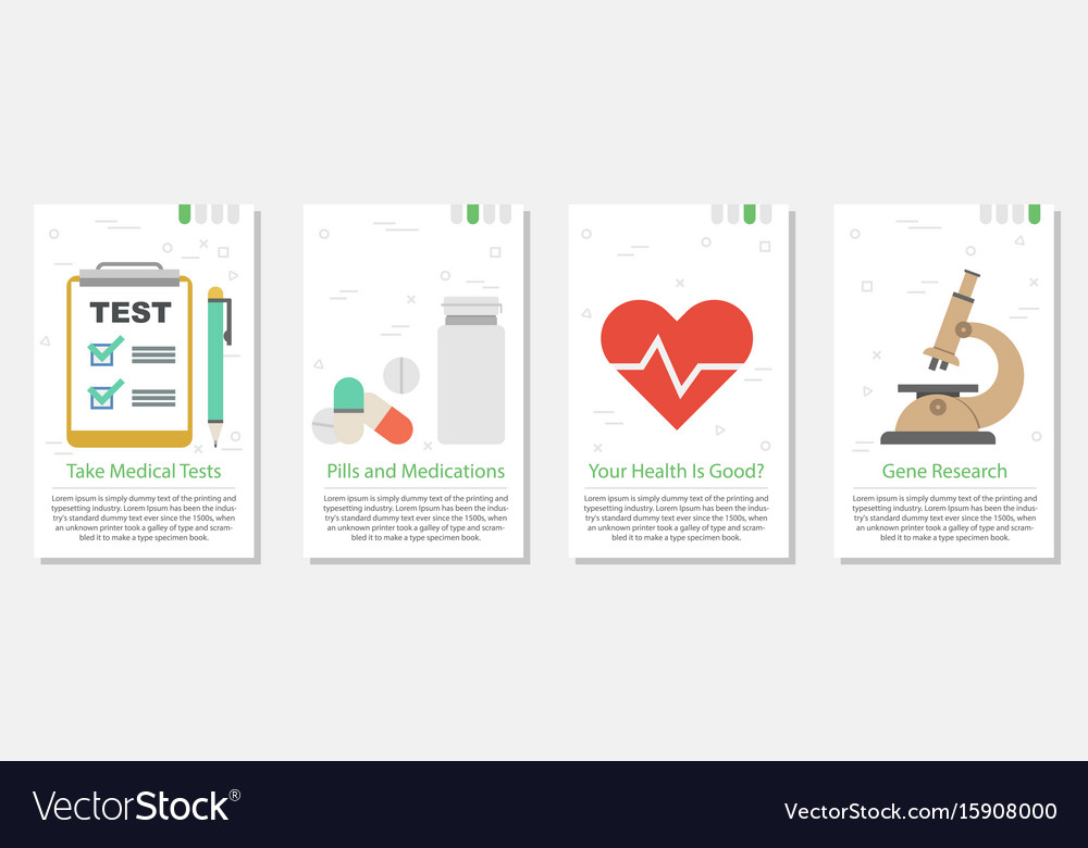 Four banners for medicine set