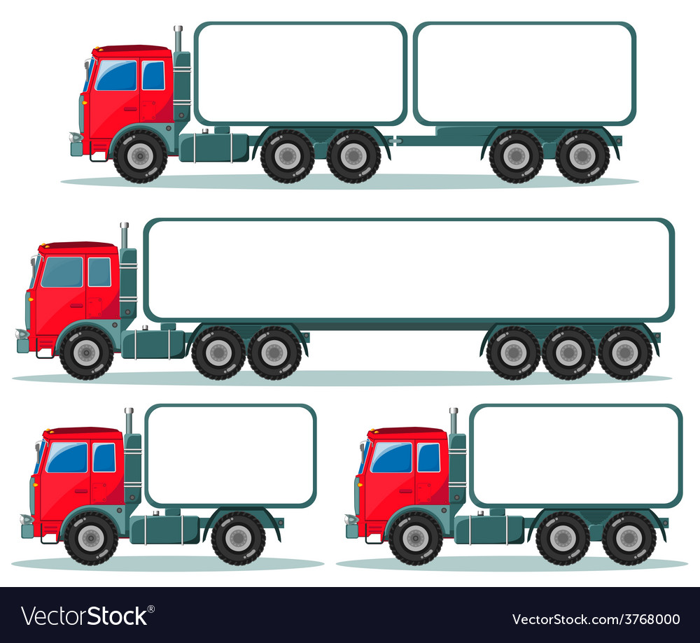 Heavy truck with space for text vector image