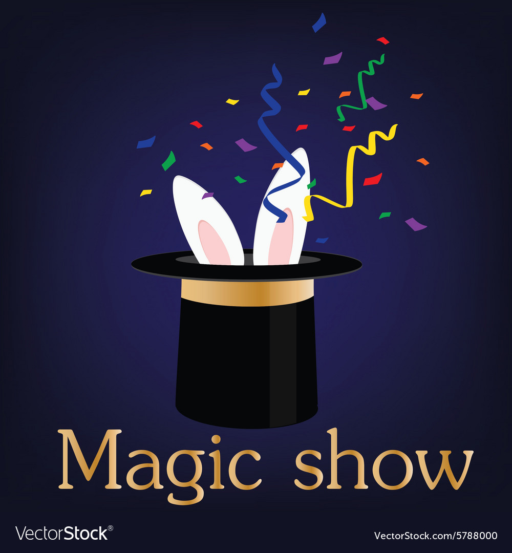 Magic show vector image