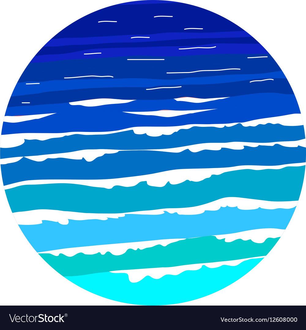 ocean sea wave logo design template royalty free vector