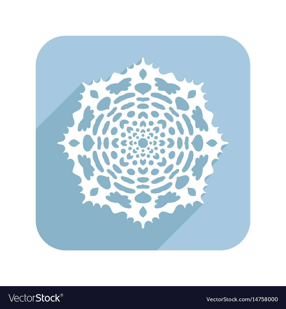 Patterned snowflake lace doily flat