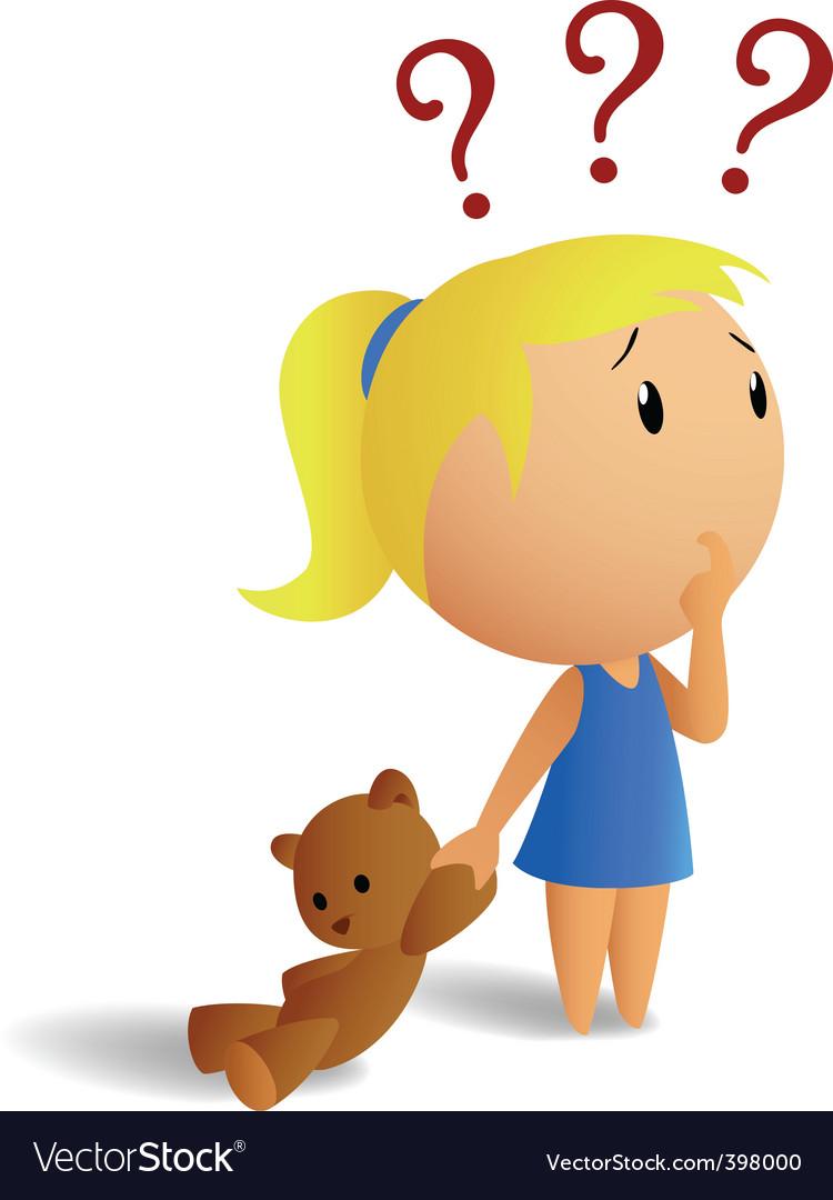 Анимашка девочка думает