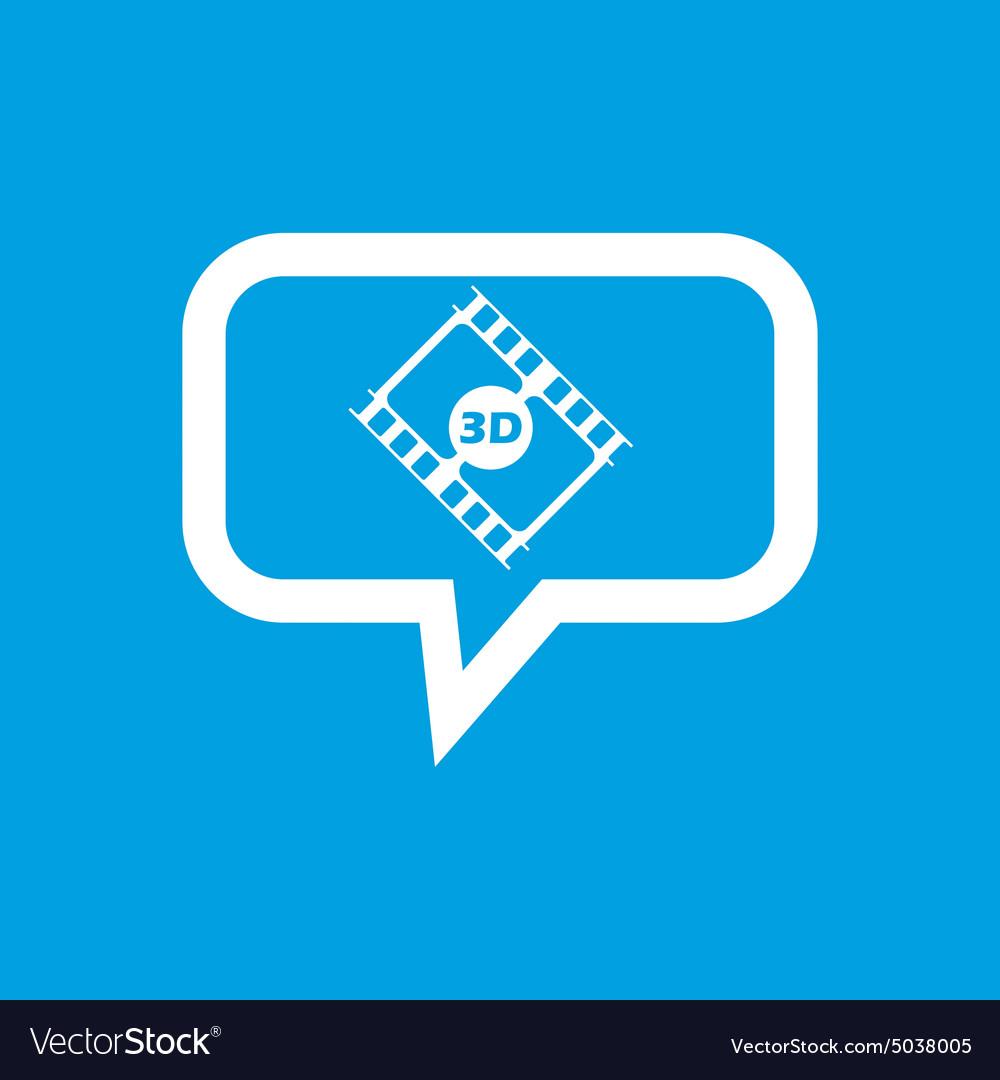 3D movie message icon