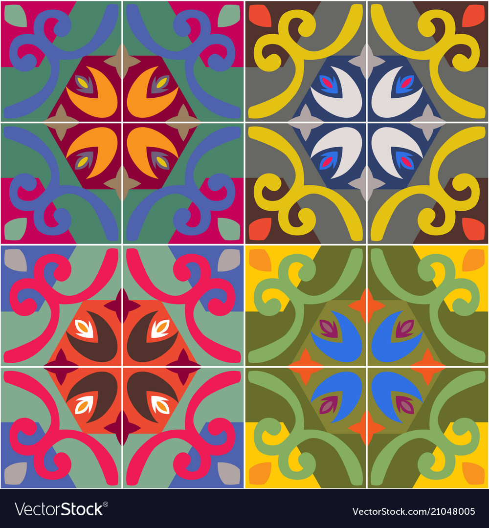 Ceramic tiles with seamless pattern