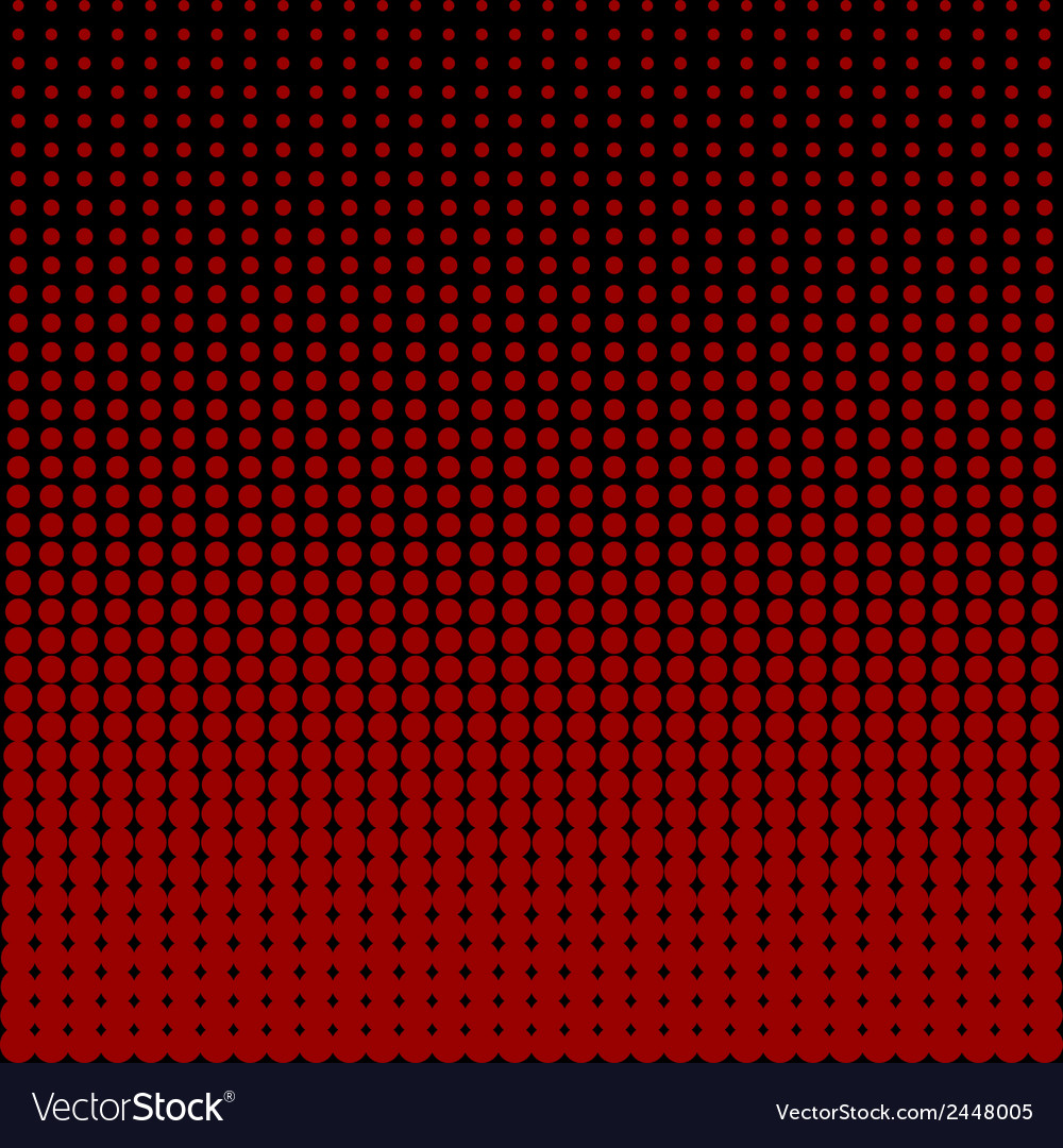Circles black and red background vector image