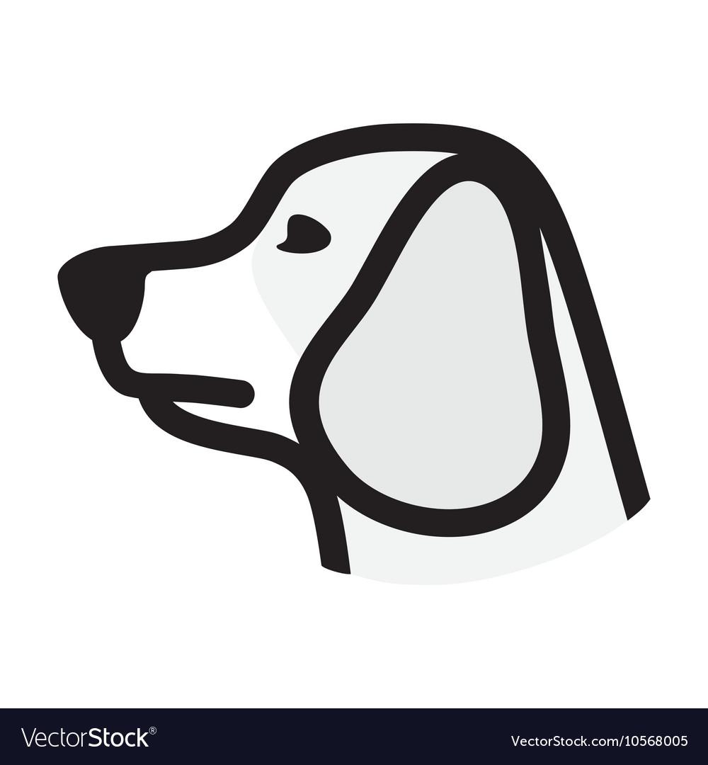 dog icon royalty free vector image vectorstock