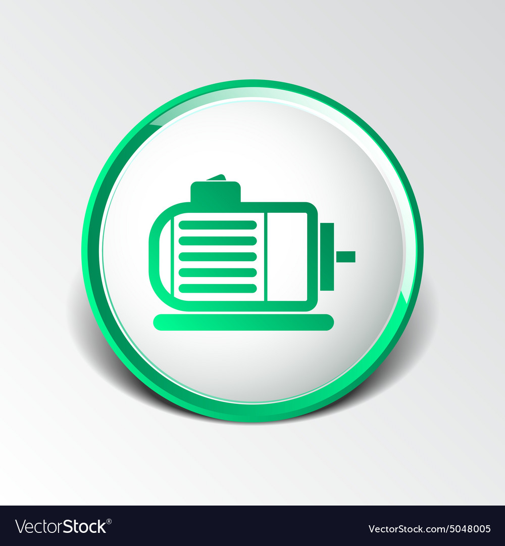 Electric Motor Icon Engine Symbol Power Royalty Free Vector