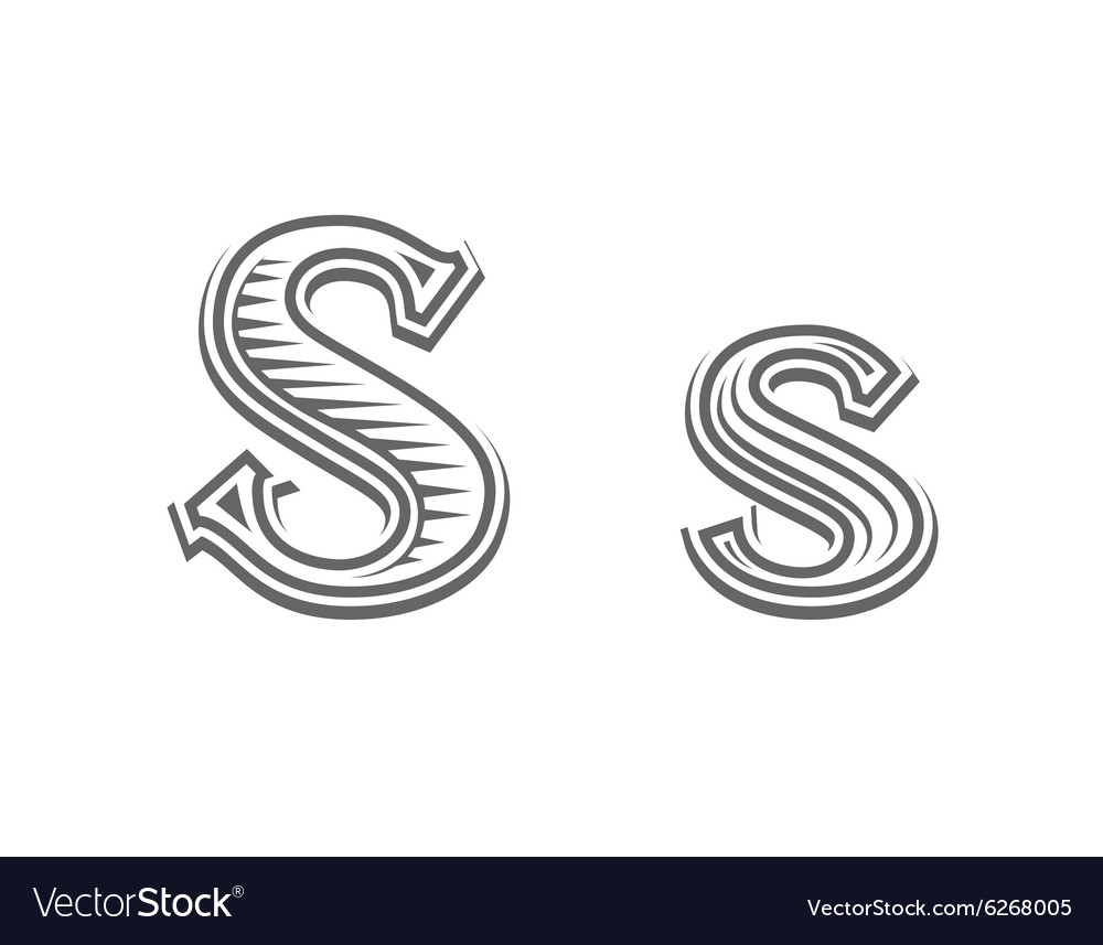 Font Tattoo Engraving Letter S