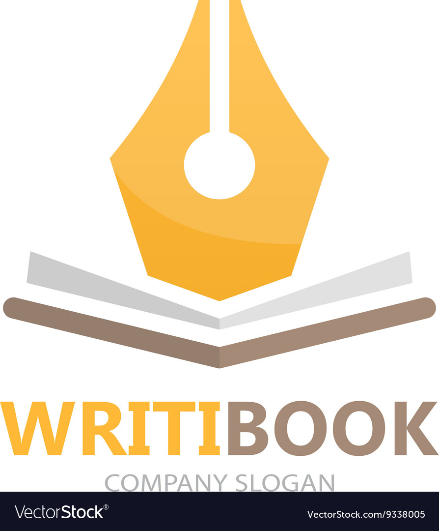 Pen and book logo concept