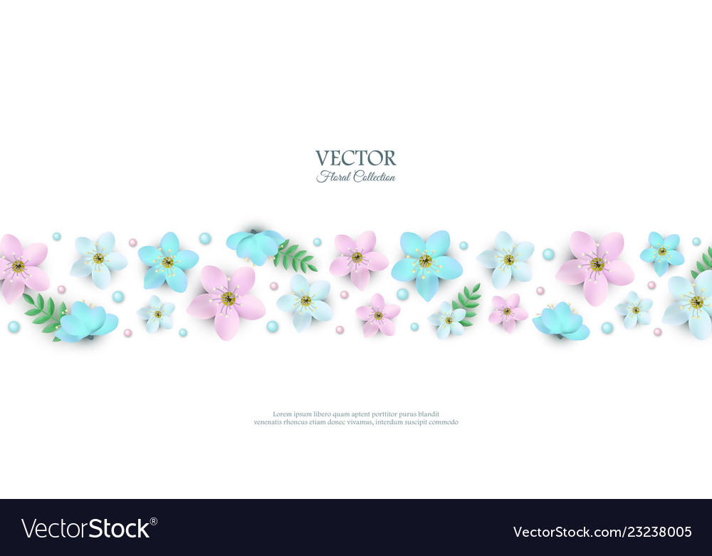 Spring white flowers with stems poster